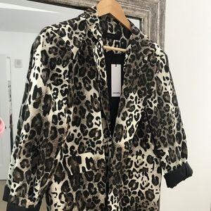 storets leopard blazer size small
